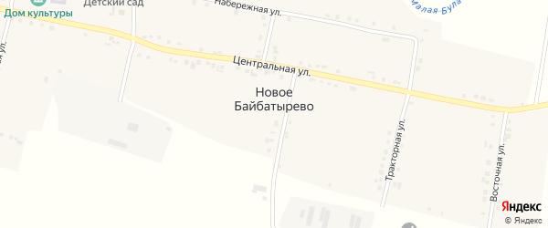 Трудовая улица на карте села Новое Байбатырево с номерами домов