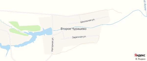 Карта деревни Второе Чурашево в Чувашии с улицами и номерами домов