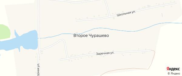 Заречная улица на карте деревни Второе Чурашево с номерами домов