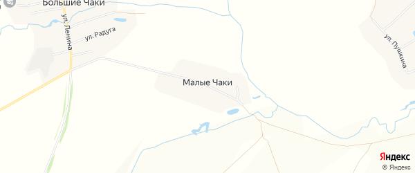 Карта деревни Малые Чаки в Чувашии с улицами и номерами домов