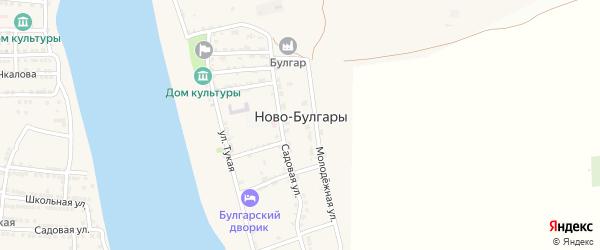 Садовая 2-я улица на карте села Ново-Булгары с номерами домов