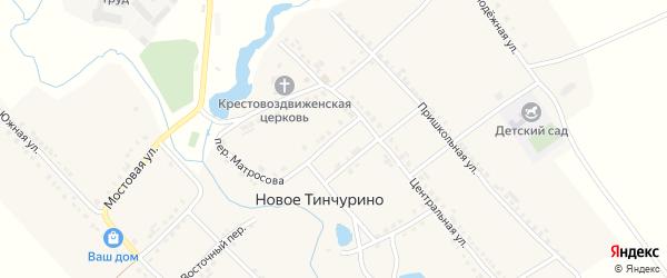 Комсомольский переулок на карте села Новое Тинчурино с номерами домов