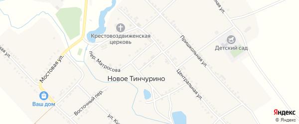 Родниковый переулок на карте села Новое Тинчурино с номерами домов
