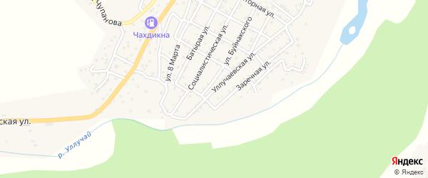 Заречная улица на карте села Маджалиса с номерами домов