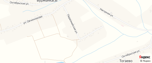 Первомайская улица на карте деревни Вурманкасы с номерами домов