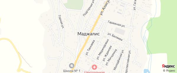 Янгикентская улица на карте села Маджалиса с номерами домов