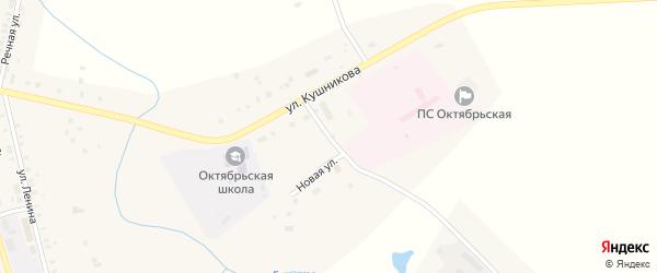 Улица Кушникова на карте Октябрьского села с номерами домов