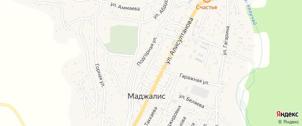 Улица Кадырова на карте села Маджалиса с номерами домов
