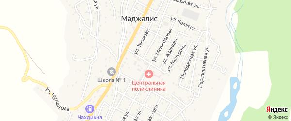 Больничная улица на карте села Маджалиса с номерами домов