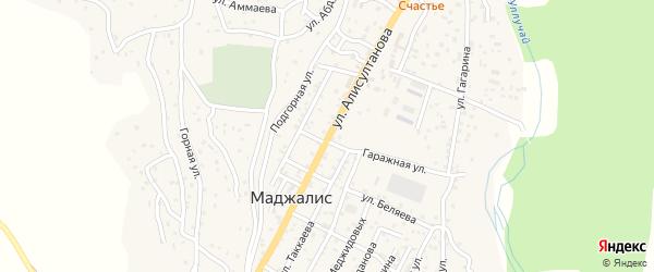 Улица Алисултанова на карте села Маджалиса с номерами домов