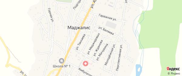 Улица Камбулатова на карте села Маджалиса с номерами домов