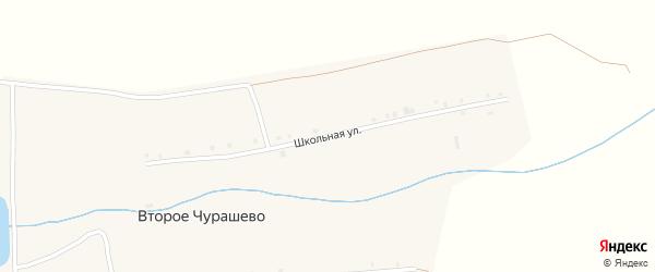 Школьная улица на карте деревни Второе Чурашево с номерами домов