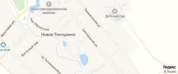 Центральная улица на карте села Новое Тинчурино с номерами домов