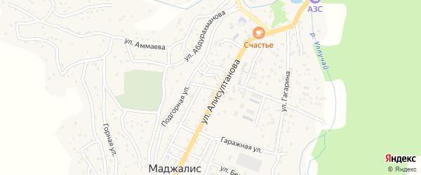 Базарная улица на карте села Маджалиса с номерами домов