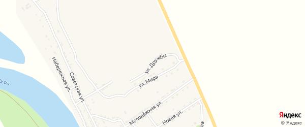 Улица Дружбы на карте села Лапаса с номерами домов