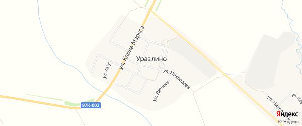 Карта деревни Уразлино в Чувашии с улицами и номерами домов