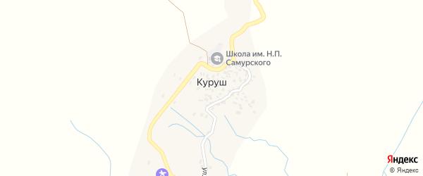 Улица Шимин тыл на карте села Куруша с номерами домов