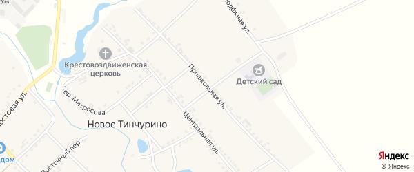 Пришкольная улица на карте села Новое Тинчурино с номерами домов