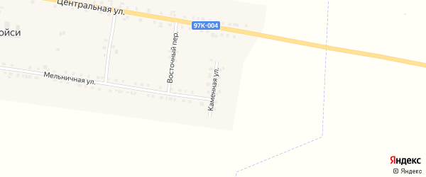 Каменная улица на карте деревни Старые Тойси с номерами домов