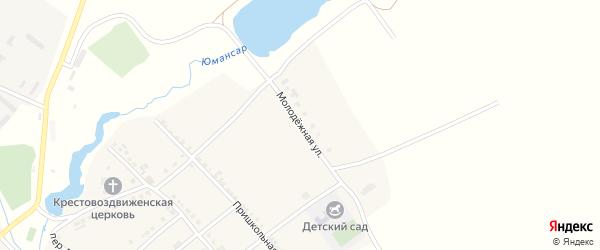 Молодежная улица на карте села Новое Тинчурино с номерами домов