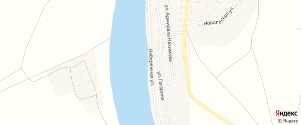 Набережная улица на карте села Самосделки с номерами домов