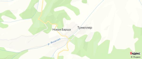 Карта села Новой Барши в Дагестане с улицами и номерами домов