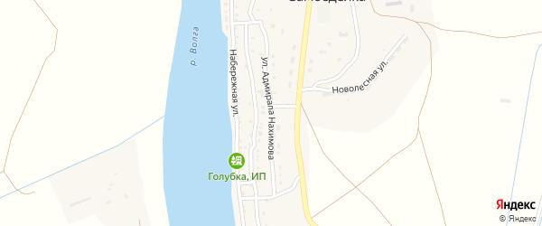 Улица Адмирала Нахимова на карте села Самосделки с номерами домов