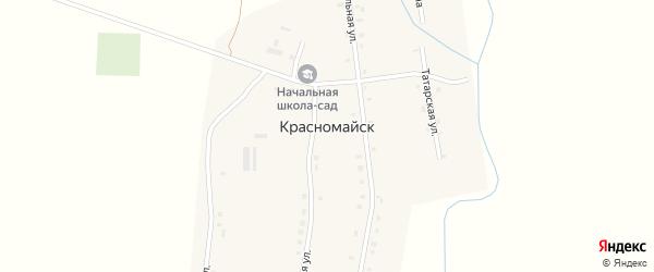 Осиновая улица на карте деревни Красномайска с номерами домов