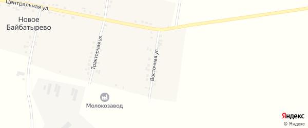 Восточная улица на карте села Новое Байбатырево с номерами домов