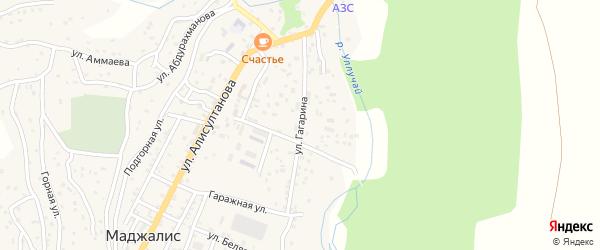 Улица Гагарина на карте села Маджалиса с номерами домов