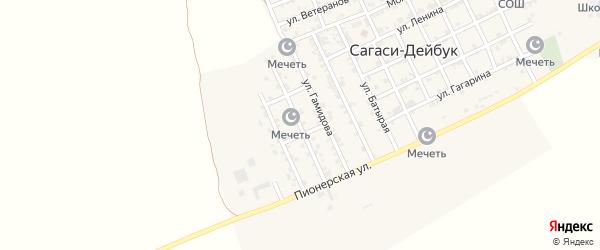 Дейбукская улица на карте села Дейбука с номерами домов