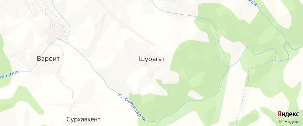 Карта села Шурагата в Дагестане с улицами и номерами домов