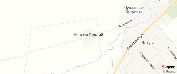 Карта Максима Горького поселка в Чувашии с улицами и номерами домов