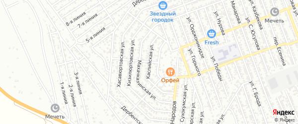 Каспийская улица на карте Избербаша с номерами домов