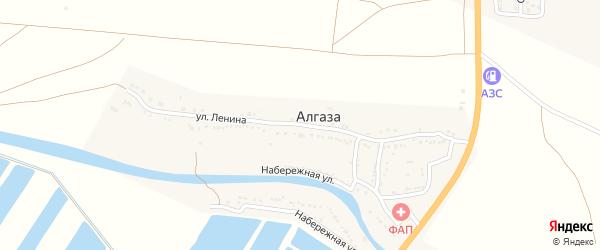 Улица Ленина на карте села Алгаза с номерами домов