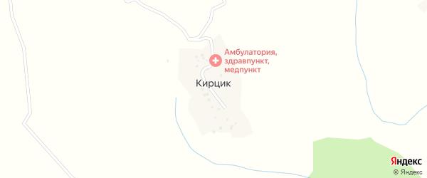 Центральная улица на карте села Кирцика с номерами домов