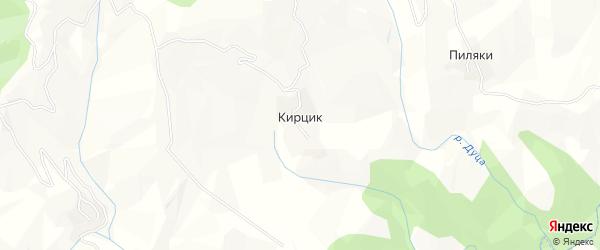 Карта села Кирцика в Дагестане с улицами и номерами домов