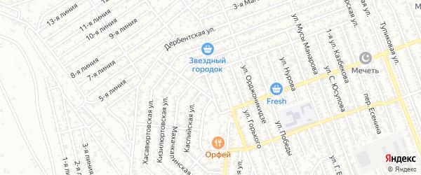 Улица К.Караева на карте Избербаша с номерами домов