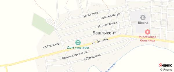 Улица Пушкина на карте села Башлыкента с номерами домов