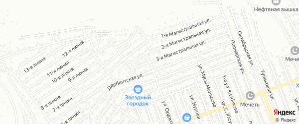Магистральная 3-я улица на карте Избербаша с номерами домов