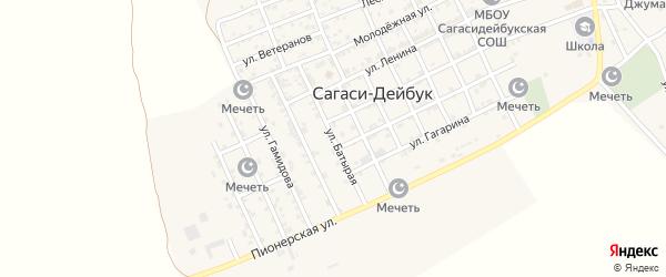 Батырая улица на карте села Сагаси-Дейбука с номерами домов