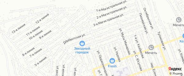 Хасавюртовская улица на карте села Гели с номерами домов