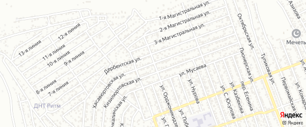 Хасавюртовская улица на карте Избербаша с номерами домов