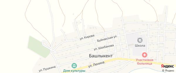 Улица Кирова на карте села Башлыкента с номерами домов