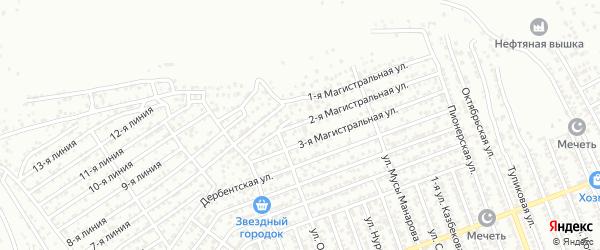Магистральная 2-я улица на карте Избербаша с номерами домов