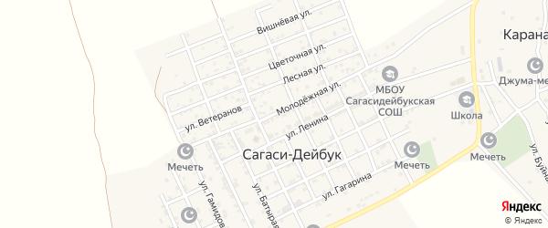 Молодежная улица на карте села Дейбука с номерами домов