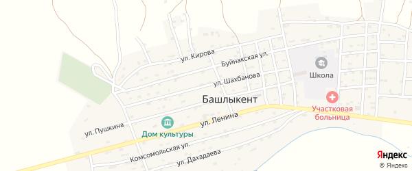 Улица Шахбанова на карте села Башлыкента с номерами домов