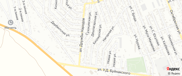 Дешлагарская улица на карте Избербаша с номерами домов