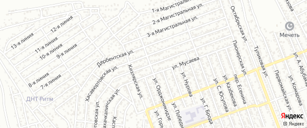 Кизилюртовская улица на карте села Гели с номерами домов