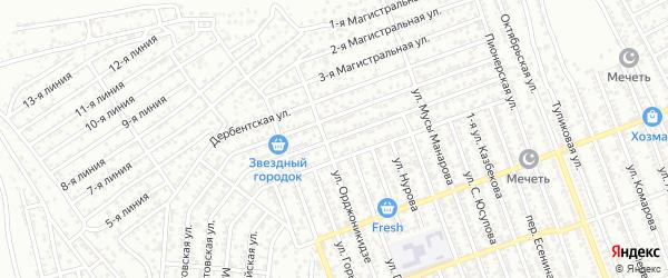 Кизилюртовская улица на карте Избербаша с номерами домов